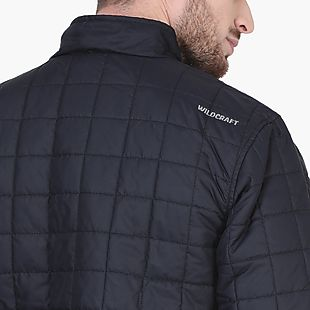 Wildcraft Men Husky Self-Packable Poly Jacket - Black
