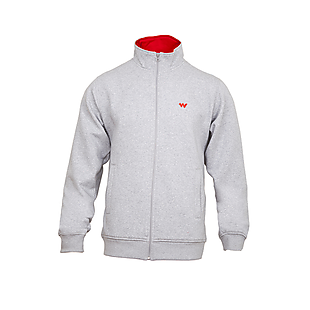 Wildcraft Men Zippered Sweatshirt - Light Grey Melange