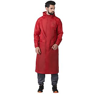 Wildcraft Hypadry Unisex Rain Coat - Red
